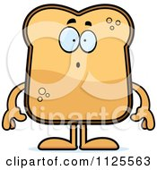 Cartoon Of A Surprised Toast Mascot Royalty Free Vector Clipart by Cory Thoman