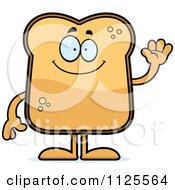 Waving Toast Mascot