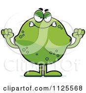 Cartoon Of An Angry Lime Mascot Royalty Free Vector Clipart