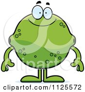 Cartoon Of A Happy Lime Mascot Royalty Free Vector Clipart