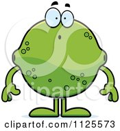 Cartoon Of A Surprised Lime Mascot Royalty Free Vector Clipart