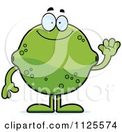 Cartoon Of A Waving Lime Mascot Royalty Free Vector Clipart by Cory Thoman