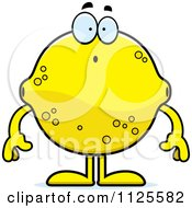 Cartoon Of A Surprised Lemon Mascot Royalty Free Vector Clipart
