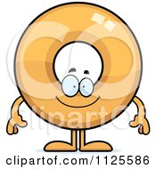 Cartoon Of A Happy Donut Mascot Royalty Free Vector Clipart