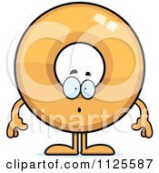 Cartoon Of A Surprised Donut Mascot Royalty Free Vector Clipart by Cory Thoman