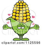 Cartoon Of A Loving Corn Mascot With Open Arms Royalty Free Vector Clipart by Cory Thoman
