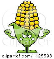 Cartoon Of An Angry Corn Mascot Royalty Free Vector Clipart