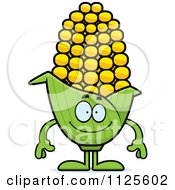 Cartoon Of A Happy Corn Mascot Royalty Free Vector Clipart