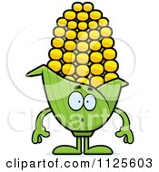 Cartoon Of A Surprised Corn Mascot Royalty Free Vector Clipart by Cory Thoman