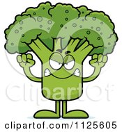 Cartoon Of An Angry Broccoli Mascot Royalty Free Vector Clipart by Cory Thoman