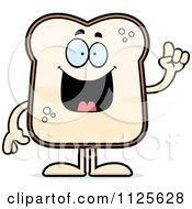 Cartoon Of A Bread Character With An Idea Royalty Free Vector Clipart