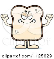 Cartoon Of An Angry Bread Character Royalty Free Vector Clipart