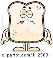 Cartoon Of A Sick Bread Character Royalty Free Vector Clipart by Cory Thoman