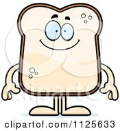 Cartoon Of A Happy Bread Character Royalty Free Vector Clipart