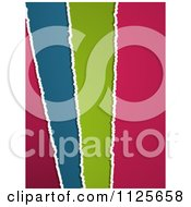 Clipart Of Layered Torn Colored Paper Royalty Free Vector Illustration by elaineitalia