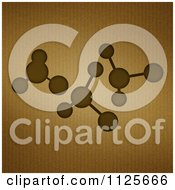 Clipart Of A Molecule Design On Corrugated Cardboard Royalty Free Illustration by elaineitalia