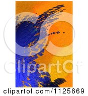 Clipart Of An Abstract Background Of Blue Hexagon Tiles On Orange Roses Royalty Free CGI Illustration by chrisroll