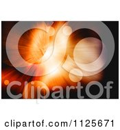 Clipart Of A Planetary Orb And Burst Of Light Background Royalty Free CGI Illustration
