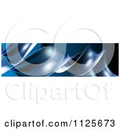 Clipart Of A 3d Border Of Blue Tendrils Royalty Free CGI Illustration
