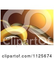 Clipart Of A 3d Background Of Golden Tendrils Royalty Free CGI Illustration