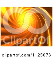 Clipart Of A 3d Orange Vortex Royalty Free CGI Illustration