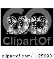 Clipart Of A Sparkly Diamond Year 2013 On Black Royalty Free Vector Illustration by michaeltravers #COLLC1125690-0111