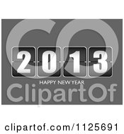 Clipart Of A Ticker Happy New Year 2013 On Gray Royalty Free Vector Illustration by michaeltravers