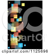 Clipart Of A Background Of Colorful Squares On Black 3 Royalty Free Vector Illustration by michaeltravers