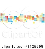 Clipart Of A Background Of Colorful Squares On White Royalty Free Vector Illustration