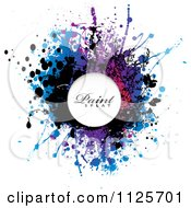 Colorful Paint Splatter On White With Sample Text