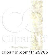 Clipart Of A Merry Christmas Greeting With Snowflakes And Mesh Waves On Gold And White Royalty Free Vector Illustration by michaeltravers