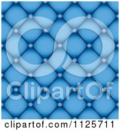 Clipart Of A Blue Leather Upholstery Background Royalty Free Vector Illustration