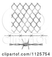 3d Seamless Chainlink Fence And Barbed Wire Elements