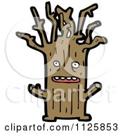 Cartoon Of An Ent Tree 6 Royalty Free Vector Clipart by lineartestpilot