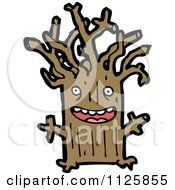 Cartoon Of An Ent Tree 5 Royalty Free Vector Clipart by lineartestpilot
