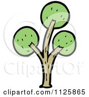 Cartoon Of A Tree With Green Foliage 30 Royalty Free Vector Clipart by lineartestpilot
