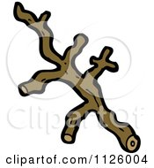Cartoon Of A Cut Tree Branch Royalty Free Vector Clipart