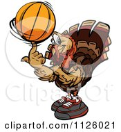 Cartoon Of A Turkey Bird Mascot Playing Hockey - Royalty ...