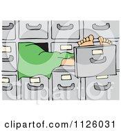 Cartoon Of A Dead Person In A Morgue Royalty Free Vector Clipart