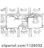 Cartoon Of An Outlined Dead Person In A Morgue Royalty Free Vector Clipart