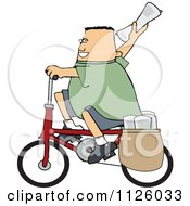 Cartoon Of A Paper Boy On A Bicycle Royalty Free Vector Clipart by djart