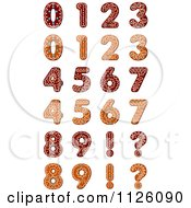 Clipart Of Christmas Gingerbread Numbers Royalty Free Vector Illustration