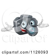 Cartoon Of A Happy DSLR Camera Mascot Royalty Free Vector Clipart