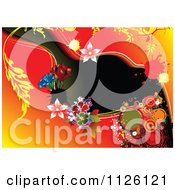 Clipart Of A Grungy Floral Background 1 Royalty Free Vector Illustration
