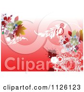 Clipart Of A Grungy Floral Background 3 Royalty Free Vector Illustration