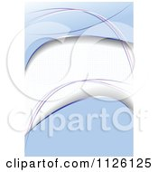 Clipart Of An Abstract Blue Background Royalty Free Vector Illustration