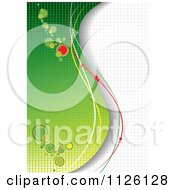Clipart Of A Grungy Green Background 1 Royalty Free Vector Illustration
