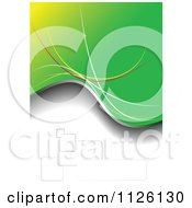 Clipart Of A Grungy Green Background 3 Royalty Free Vector Illustration