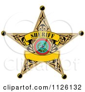 Clipart Of A Sheriff Star Badge Royalty Free Vector Illustration