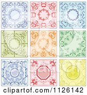 Clipart Of Colorful Ornate Tiles Royalty Free Vector Illustration by leonid